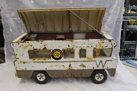 Vintage Tonka Tin And Plastic Toy RV Camper Truck