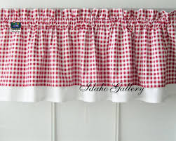 White Eyelet Kitchen Curtains by Curtain Red White Check Gingham Double Layered By Idaho Gallery