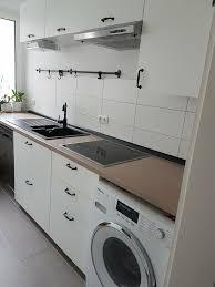 weiße küche mit schwarzen griffen top zustand ikea