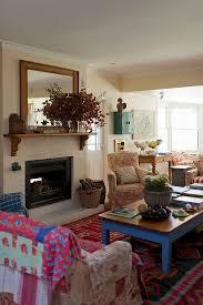 gemütliches wohnzimmer im landhausstil bild kaufen