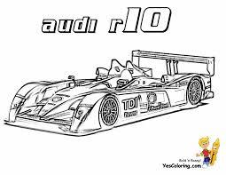 Audi R10 Free Car Coloring At YesColoring Printable