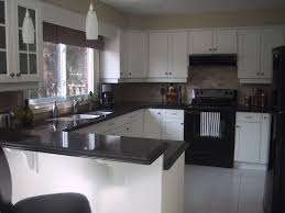 Kitchen Decor Idea With Black Appliances Outofhome White Cabinets