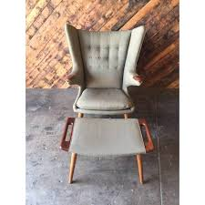 Hans Wegner Papa Bear Chair History by Authentic Hans Wegner Papa Bear Chair With Ottoman Chairish