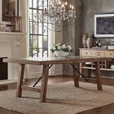 Shop Dakota Oak Reinforced Concrete Trestle Dining Table By INSPIRE Q Artisan