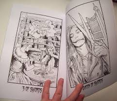 The Twisted Tarot Tales Horror Coloring Book