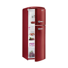 Gorenje RF60309 1737cm Retro Freestanding Metallic Bordeaux Right Hinge Fridge Freezer