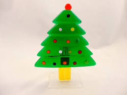 Murano Glass Green Christmas Tree