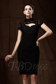 lace sheath column high neck short sleeves knee length taline u0027s