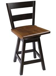 Straight Back Swivel Bar Stool In Quarter Sawn Oak | The Amish ...