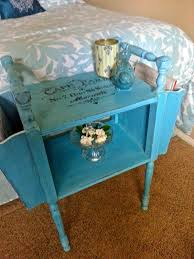 Americana Decor Chalky Finish Paint Colors by The Altered Flea Vintage Magazine Side Table Transformed With