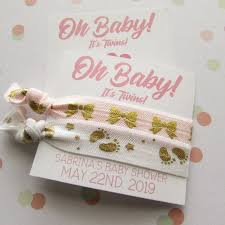 Its Twins Baby Shower Favors Hair Ties Party Favors Choose Your Colors Baby Sprinkle Favors