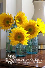 Decorating With Sunflowers Mason Jar Kitchen DecorYellow
