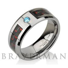 25 best Aquamarine Tungsten Wedding Bands images on Pinterest