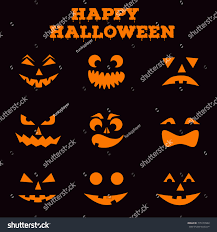 Pumpkin Carving Templates Famous Faces by Collection Halloween Pumpkins Carved Faces Silhouettes Stock