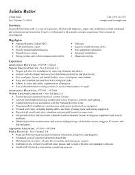 Attractive Sample Electrician Cv Examples Of Resumes Apprentice Resume Vision