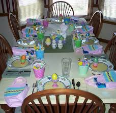 Spring And Easter Table Decorations