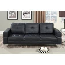 Mainstays Sofa Sleeper Black Faux Leather by Faux Leather Sofa Beds You U0027ll Love Wayfair