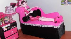 Monster High Bedroom Set by How To Make A Chaise Longue Sofa For Doll Monster High Barbie