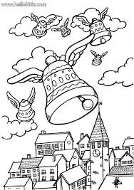Easter Sunday Bells Coloring Page