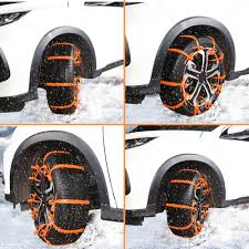 10PCS Universal Snow Chains Car Tyre Anti Skid TPU Chains For Road ...
