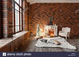 100 Brick Loft Apartments Apartments Brick Wall With Candles And Christmas Tree