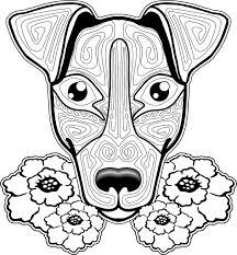 Dog Coloring Pages For Adults Spectacular