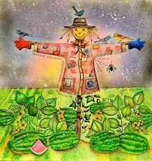 Scarecrow From Secret Garden