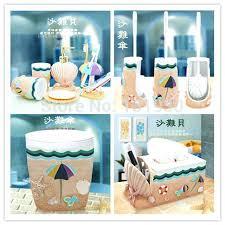Beach Glass Bath Accessories by Sea Glass Bathroom Set Monster Decor Cartoon Accessories Resin