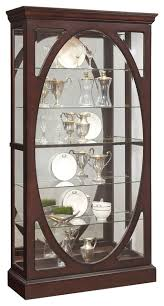 Pulaski Kensington Display Cabinet by Sable Oval Framed Mirrored Display Cabinet Transitional China
