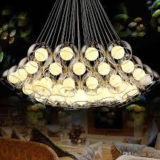 großhandel moderne kunst glas kronleuchter led pendelleuchte für wohnzimmer bar ac85 265v g4 glühbirne hängen glas pendelleuchte leuchten teem