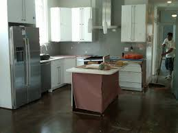 Image Of White Cabinets With Dark Floors Style