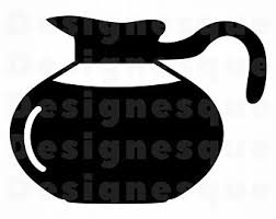 Coffee Pot SVG Clipart Files For Cricut Cut Silhouette Dxf Png Eps Vector