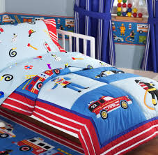 Winsome Fire Truck Police Car Toddler Boy Bedding Set. | Kids Rooms ...
