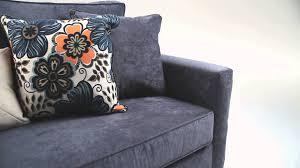decor enchanting blue microfiber upholstered sofa by bobs