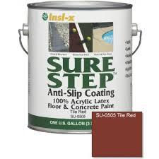 sure step 1 gal tile acrylic anti slip concrete paint