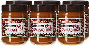 pate d arachide pcd pcd pate d arachide 500 g lot de 6 fr epicerie