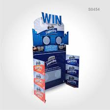 S0454 Beer Carton Floor Display Stand
