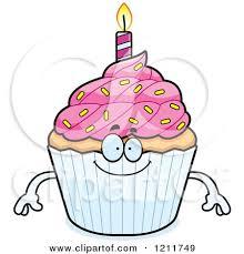 Happy Birthday Cupcake Mascot by Cory Thoman
