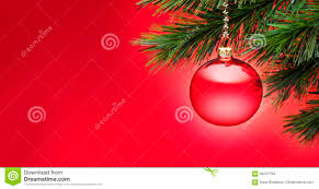 Red Christmas Tree Banner Background