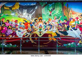 Denver International Airport Murals Artist by Colorful Mural Titled