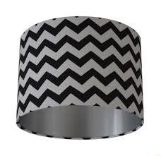 Gray Chevron Curtains Uk by Chevron Zig Zag Black U0026 White Fabric With Brushed Silver Lining