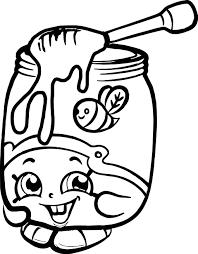 Honeeey Shopkins Coloring Page