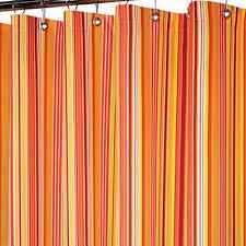 Strings Stripe Fabric Shower Curtain