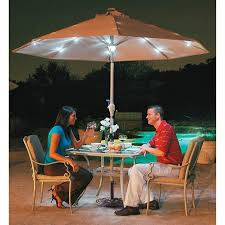 Solar Lighted Rectangular Patio Umbrella by Patio Umbrellas With Solar Lights Home Design Ideas And Pictures