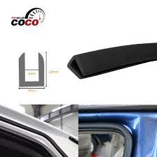 100 Truck Rear Window Guard Z Pillar Shape PVC Sound Insulation Trim Rubber Lock Car SUV
