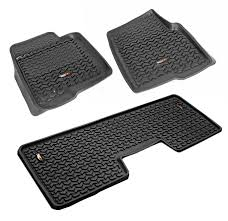 Vw Floor Pan Dimensions by Amazon Com Rugged Ridge All Terrain 82989 21 Black Front And Rear