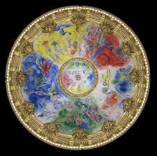 le plafond de marc chagall pour l opéra de marc chagall