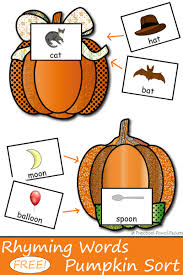 Turkey Pumpkin Push Ins by Rhyming Pumpkins Match The First Pumpkin With The Pumpkin That