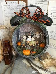 El Paso Pumpkin Patch 2014 by One Lucky Day Halloween Assemblage Clock