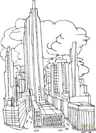 Click The New York City Before September 11 2001 Coloring Pages To View Printable
